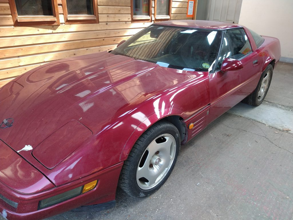 The accidental Corvette before restoration